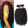Melhor 8A Cabelo Brasileiro Weave Bundles Kinky Curly Brasileiro Virgem Cabelo 4 Bundles Afro Kinky Curly Weave Extensões de Cabelo Humano