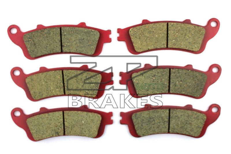 Brake Pads Ceramic For HONDA XL 1000 V3-V6 Varadero (No ABS) 2003-2006 Front + Rear OEM New High Quality ZPMOTO motorcycle brake pads ceramic composite for triumph 800 tiger 2011 2014 front rear oem new high quality zpmoto