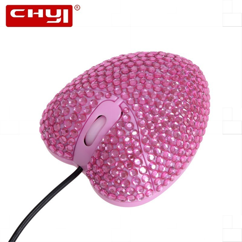Wired Cable Gaming Mouse Sem Fio Gamer Optical USB Mouse Heart Shape 1000DPI Laptop Desktop Computer Mice For Girls Gift Mause