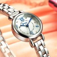 YAQIN מותג מזדמן אופנה חדשה אישה צפו עסקי קוורץ רצועת שעון עמיד למים