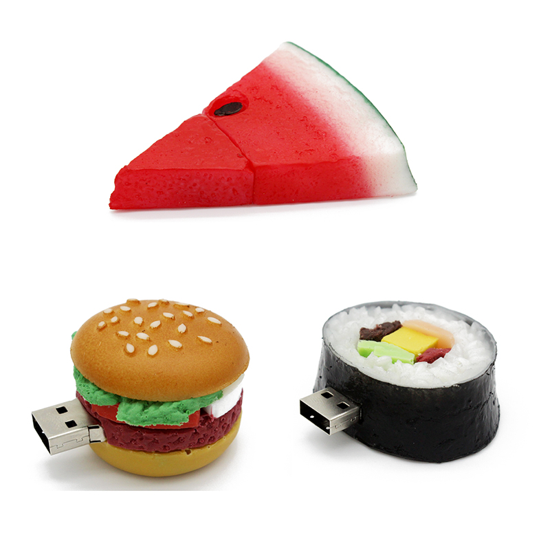 Food usb flash drive creative hamburger sushi watermelon - Cuisine flash but ...