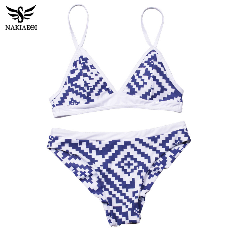 NAKIAEOI 2018 Sexy Bikini Women Swimsuit Push Up Swimwear Female Bandeau Brazilian Bikini Set Printed Beach Bathing Suit Biquini 4