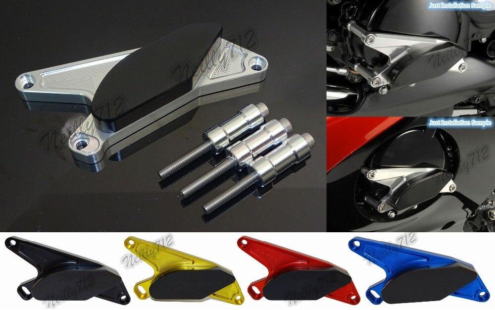 Protector del deslizador del bastidor del bastidor de las pastillas de choque del motor izquierdo para Suzuki Hayabusa GSXR1300 1999 2000 2001 2002 2003 2004-2016