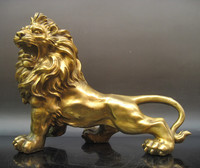 wholesale bronze factory Copper crafts Good copper lion Large decoration bronze factory Pure Brass statue