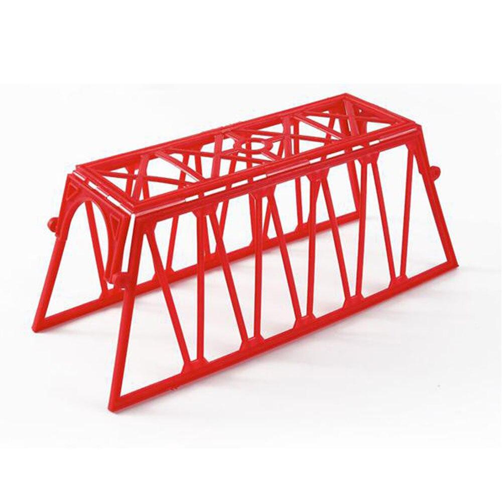 2pc 1: 87 escala ho modelo de plástico acessórios de trem ponte vermelha rede ferroviário elétrico brinquedo geral ferroviário cenário que faz materiais