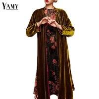 Vintage kimono vest lange mouwen vrouwen blouses sjerpen elegante vrouwen tops plus size fall 2017 fashion dames blusas