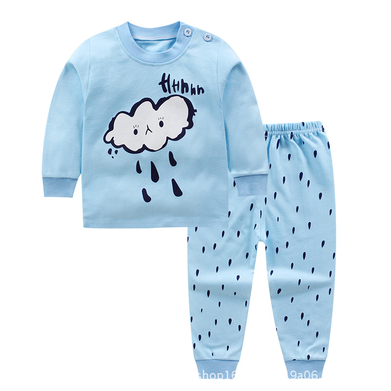 c9382cf117 BibiCola baby boys autumn pajamas infant children cartoon sleep sets cotton  sleepwear outfits toddle girls nightgown overalls