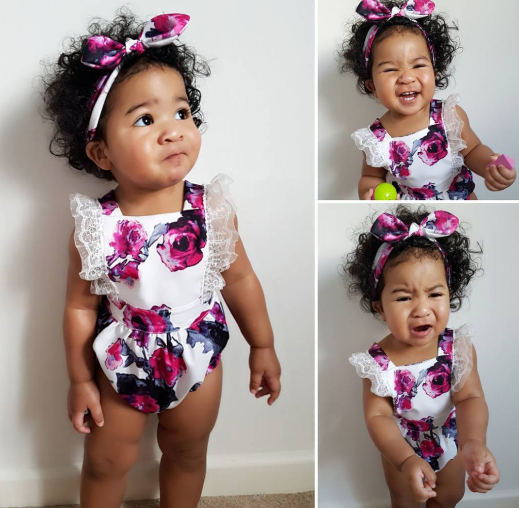 Newborn Infant Baby Girl Romper 2018 Summer Baby Girls Clothing Flower Jumpsuit Toddle Kids Babies Clothes Outfits