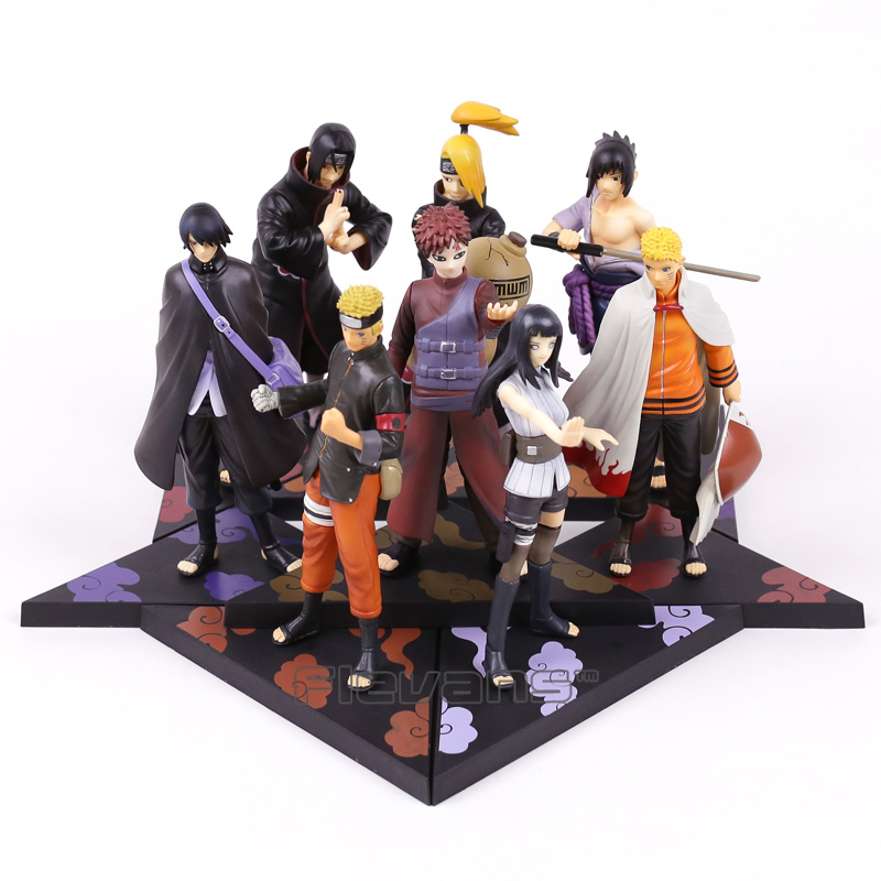 Naruto Shippuden Uzumaki Naruto Hyuuga Hinata Uchiha Sasuke Deidara Gaara Uchiha itachi PVC Figures Collectible Toys 2pcs/set pu short wallet w colorful printing of naruto shippuden uchiha itachi