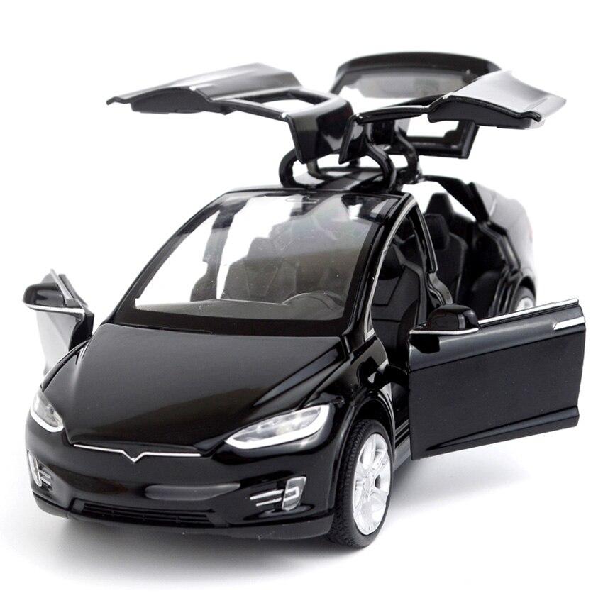 HOT Sale 16cm MODEL X Alloy Car Model Diecast Metal Vehicles Rubber Wheel 6 Door Can Open Toys Xmas Birthday Gift Boy Children
