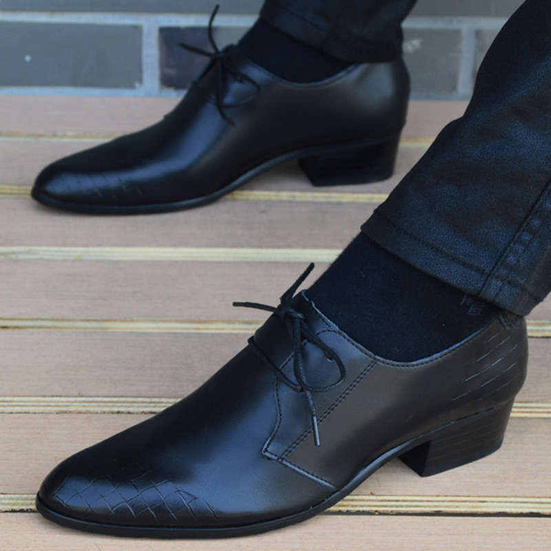 New Spring/Summer Men Leather Shoes Fashion Lace Up Dress Shoes High Quality Black Business Men's Shoes Casual Oxfords For Men men summer increase leather shoes 6cm comfortable business casual black blue us9 5 lace up leather shoes cy712 2