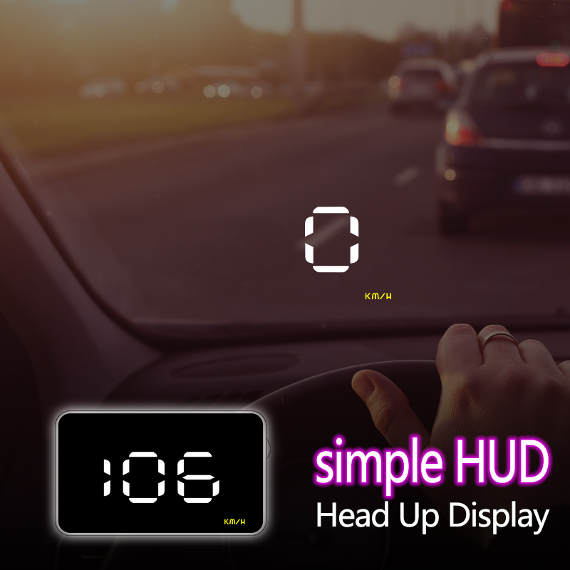 A1000 Cheapest Car Head Up Display OBD2 II EUOBD Overspeed Warning System Projector Windshield Auto Voltage Alarm