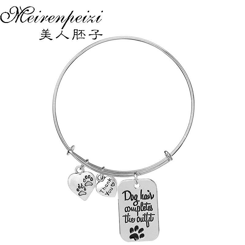 'dog Haar Rundet Das Outfit 'vintage Armband Armreif Hund Liebhaber Armband Hund Besitzer Armreif Perfektes Geschenk Für Frauen Männer Modischer (In) Stil;