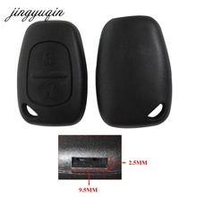jingyuqin 2 Button Remote Uncut Blade Car Key Shell for Renault Trafic Vauxhall Opel Vivaro Nissan Primastar Fob Case Cover