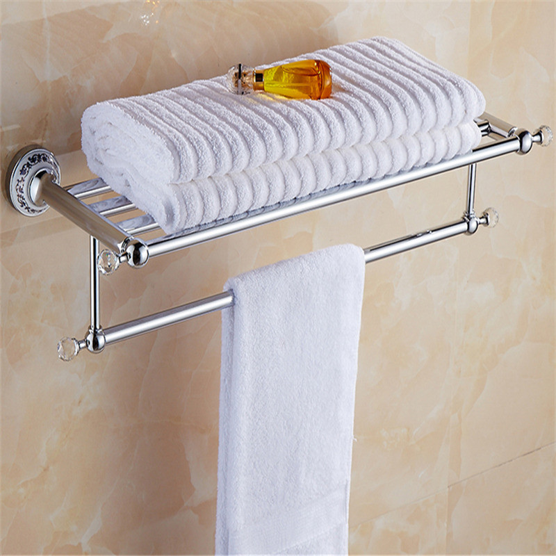 Acessórios do Banheiro Barra de Toalha Conjunto Inoxidável Toalheiro Robe Gancho Canto Prateleira Suporte Papel Banho Ferragem Base Cerâmica 304 Aço