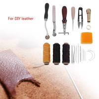 12pcs DIY Alloy Steel Sewing Craft Tool Set Handmade Leather Carving Punching Cuttering Accessories Household Kit