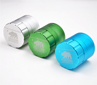 New High end Aviation Aluminum Grinder Herb Crusher as Smoking Cigarette Cigar Accessary Grinders for Men