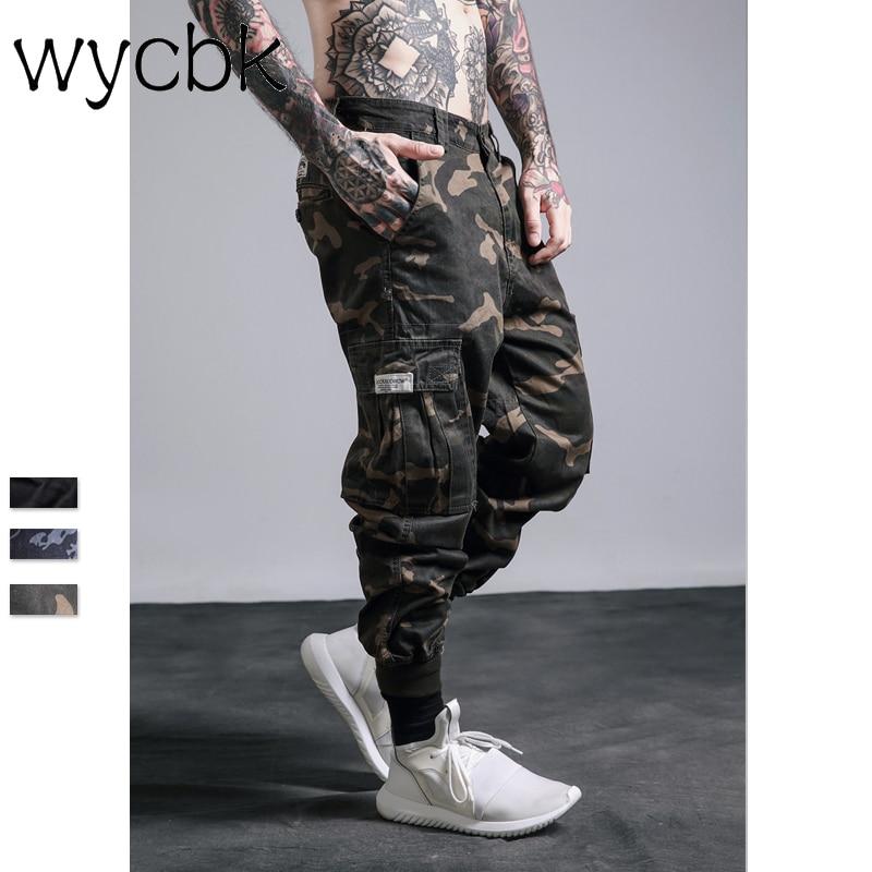 Wycbk 2017 Fashion Pants Men Camouflage Pants Men Brand Skateboard Bib Overall Pants With Militar Camouflage Pants