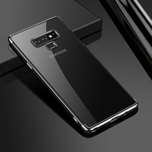 Plating TPU Phone Case For Samsung Galaxy Note 9 Luxury Ultra Thin Soft Transparent Silicone Cases