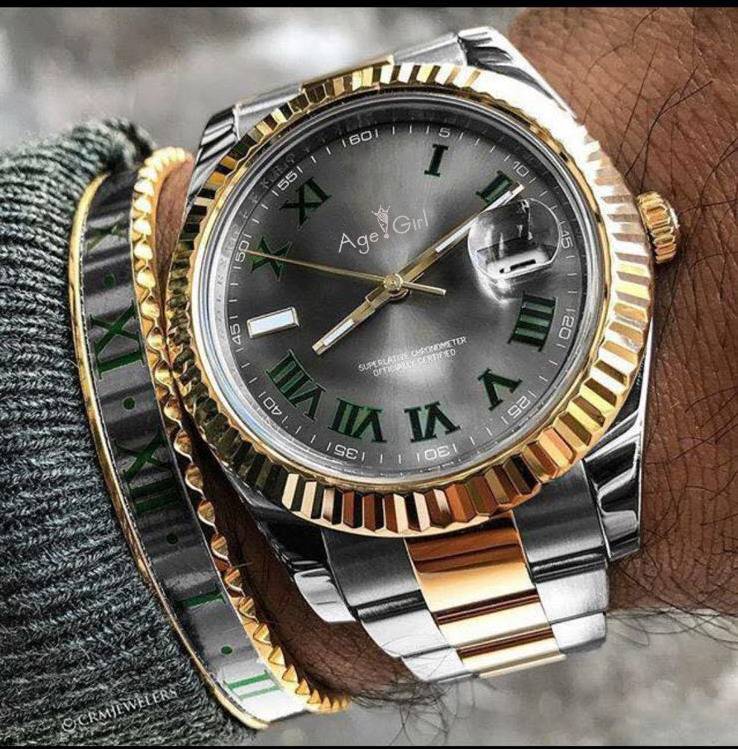 Здесь можно купить  Luxury Brand New Men Automatic Mechanical Watch Datejust Stainless Steel Sapphire Silver Gold Green Dial Grey Watches 41mm AAA+  Часы