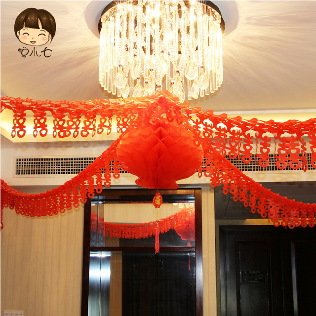 Chinese wedding supplies chinese new year decoration 1 lanterns 4 chinese wedding supplies chinese new year decoration 1 lanterns 4 straps set double happiness house wedding junglespirit Image collections