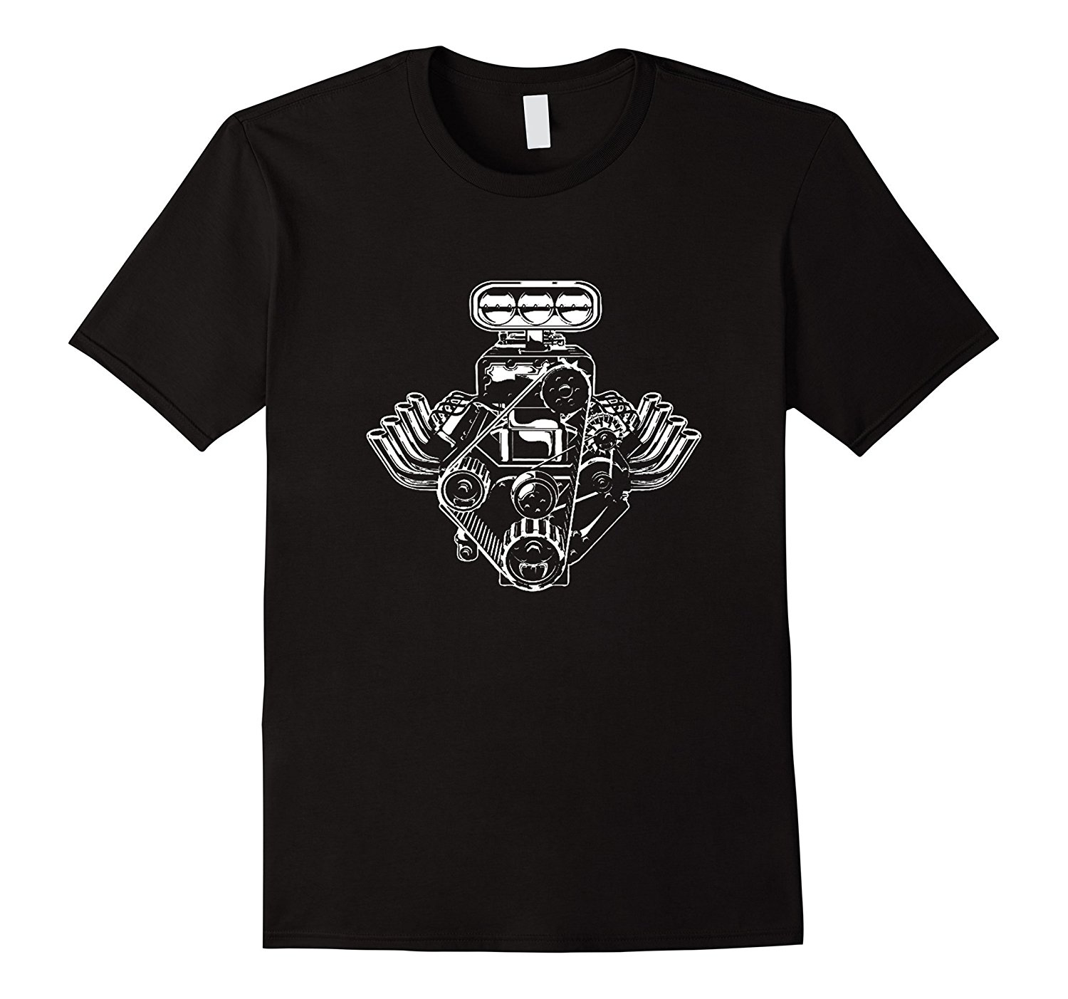 Cotton T Shirt Printed T Shirt Crew Neck Short-Sleeve Compression Car Engine Motor T-Shirt American Muscle Car Pistons Tee Shi
