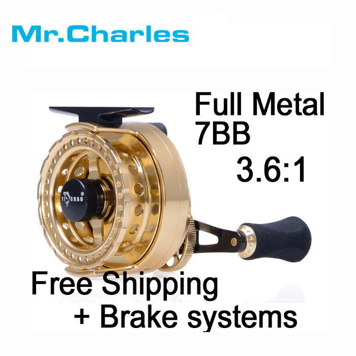 Mr.Charles New FFD60 Gear ratio 3.6:1 full metal Fishing Left/Right Hand Fly Fishing Reel Raft Ice Fishing Reel Fly Reel