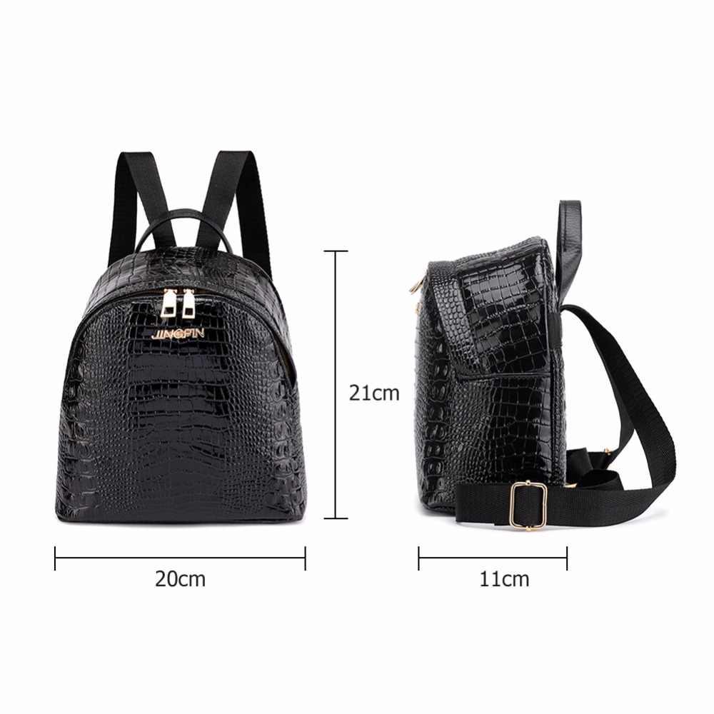65a83fc1759b ... Модные рюкзаки женские 2019 Мини кожаный рюкзак женский сплошной цвет  Bookbag Mochila подарок Backbag рюкзак школьный ...