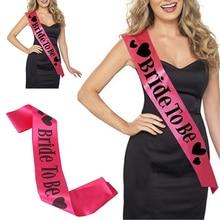 1 PCS Bride to be Hot Pink Sash Hens Night Bachelorette Party Bridal Wedding Shower