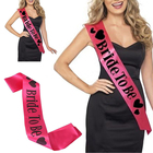 1 PCS Bride to be Hot Pink Sash Hens Night Bachelorette Party Bridal Wedding Shower