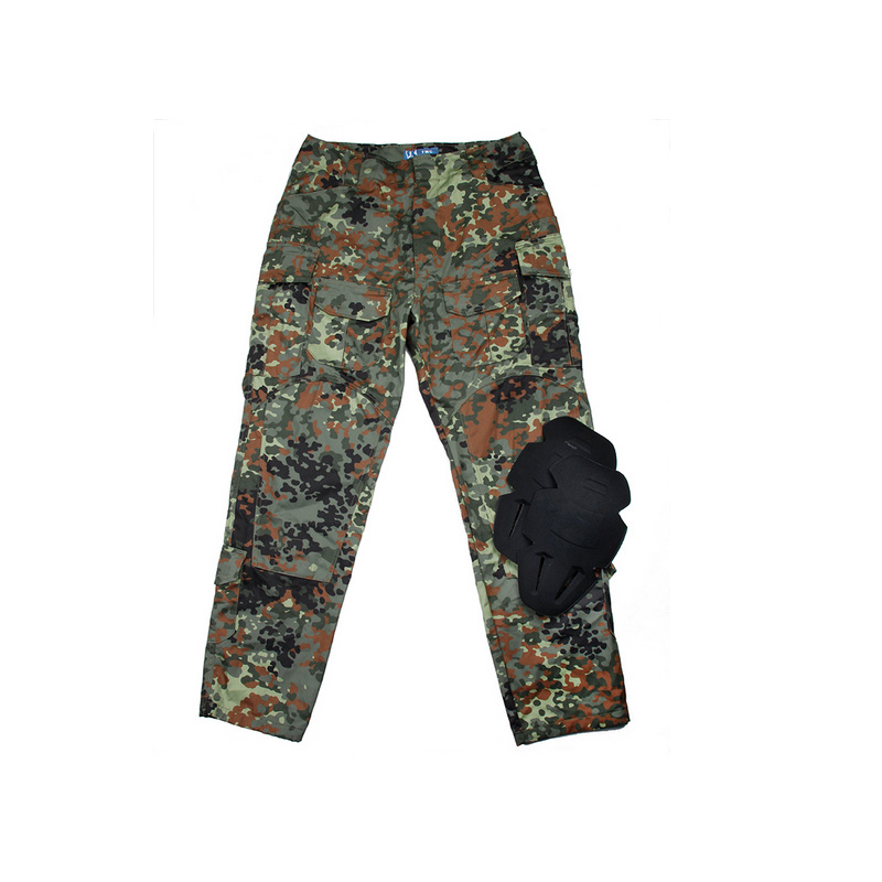 Flecktarn FIELD <font><b>G3</b></font> NYCO <font><b>combat</b></font> <font><b>pants</b></font> with EVA knee protection / Tactical Army Ripstop <font><b>Pants</b></font> 65/35 FKT Camo image