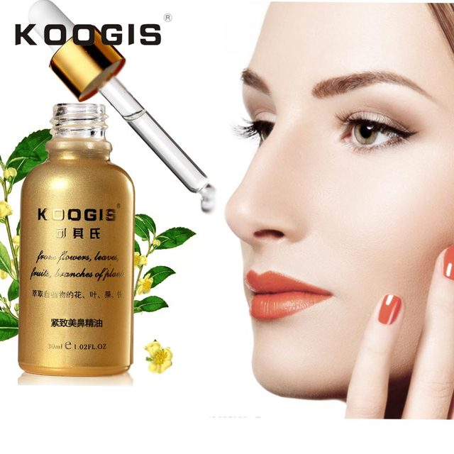 Koogis 30 мл нос борются нос эфирные масла уменьшить Узкий Тонкий нос Поднять крем нет хирургии мощный носаль костного реконструкции