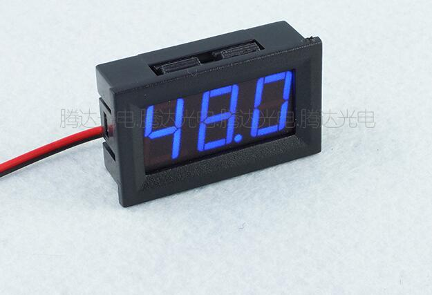 <font><b>10pcs</b></font> Instruments Blue LED Mini Digital <font><b>Voltmeter</b></font> DC5-120V Panel Volt Meter 5V To 120V Voltage Meters Electrical Testers image