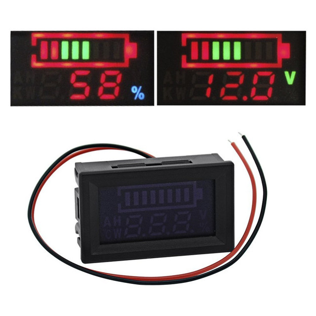 1 pc new 12v lead acid battery indicator intuitive voltage display