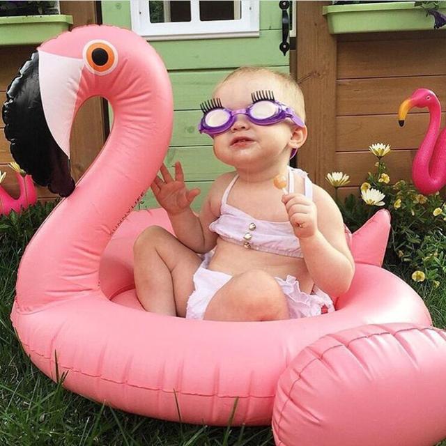 2018 New Inflatable Flamingo Swan Swim Ring Baby Swimming Float Seat Boat Kids Summer Water Fun Pool Toys Swim Pool Accessories