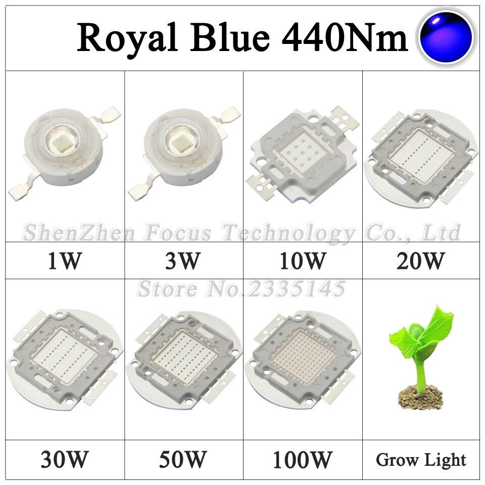 Высокая Мощность светодиодный чип 1 Вт 3 Вт 10 Вт 20 Вт 30 Вт 50 Вт 100 Вт свет шарик 660nm красный, 440nm синий УФ Фиолетовый 380-840nm полный спектр для света...
