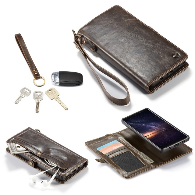 online store 893b7 3d964 US $13.99 30% OFF|For Samsung Galaxy Note 9 Wallet Retro Style Wrist Strap  Protective PU Leather Flip Magnetic Cover Case for Galaxy Note 9 S8 S9-in  ...