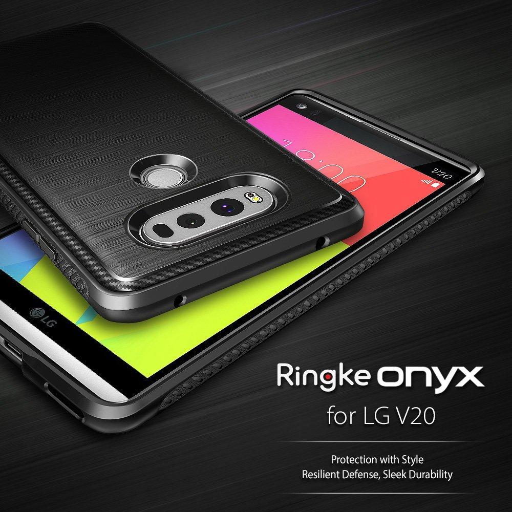 imágenes para Ringke Onyx LG Caso Capa V20 Fundas Durable Antideslizante TPU Flexible de Grado Militar Gota Risistance Casos para LG V20