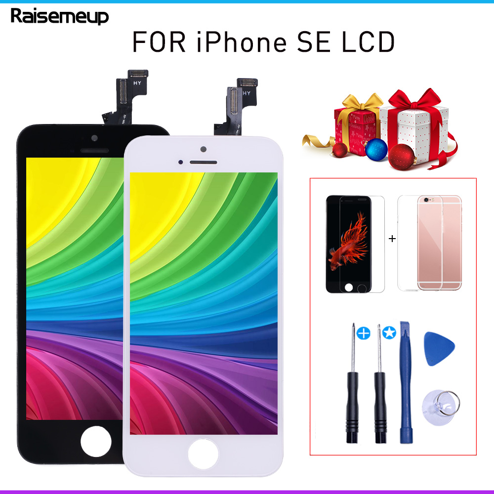 LCD Sceen For Iphone SE For Iphone 5Se A1723 A1662 LCD Display Touch Screen Digitizer Assembly Pantalla Replacement Screen +gift