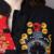 Trench Coat para Las Mujeres de Algodón de Lino de La Vendimia Larga Trinchera Abrigo Patchwork Bordado Abrigo de Invierno Más Tamaño Trench Coat Foso de Las Mujeres