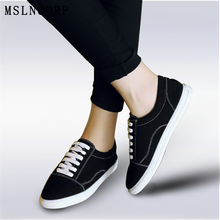plus size 34-46 New Fashion Women Comfortable Casual Shoes Woman Canvas Platform Ladies lace-up Sneakers Zapatos Skate Feminino