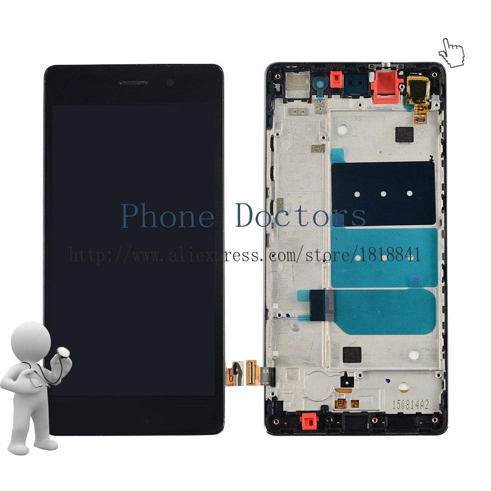imágenes para Pantalla LCD Full + Pantalla Táctil de Cristal Digitalizador + Frame Asamblea Cubierta para Huawei P8 Lite ALE-L04 L21 TL00 L23 CL00 L02 UL00; Negro