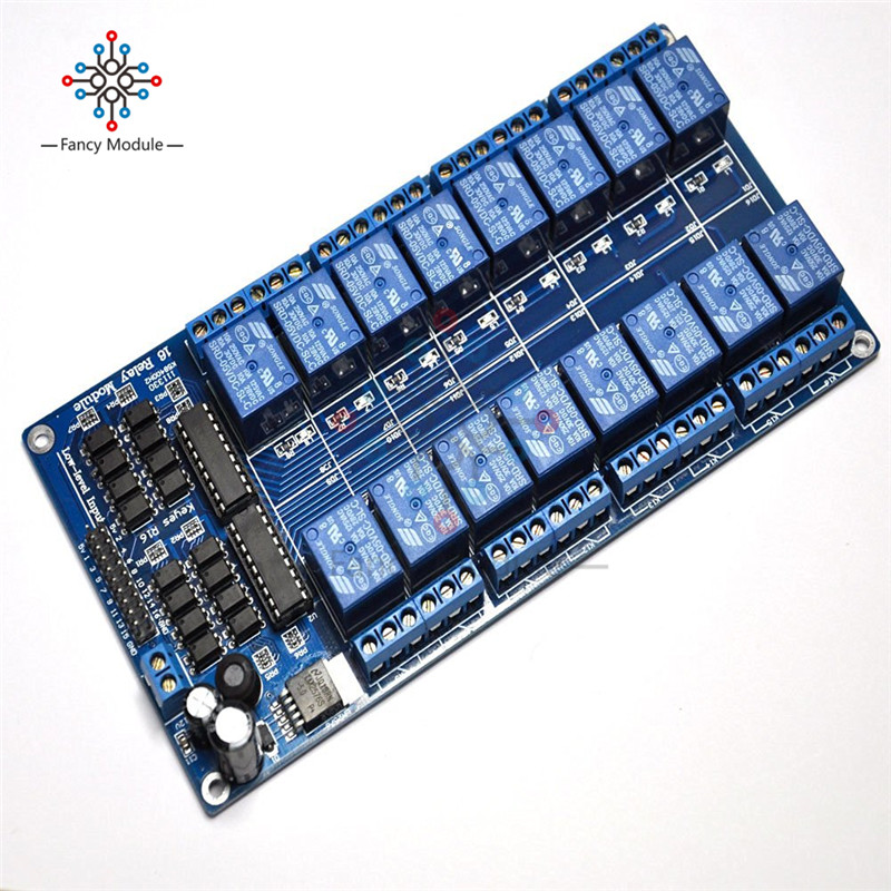 16 Channel 5V Relay Shield Module with Optocoupler LM2576 Power Supply For Arduino16 Channel 5V Relay Shield Module with Optocoupler LM2576 Power Supply For Arduino