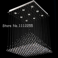 Free Shipping Modern Fashion Long Design Double Spiral Crystal Kronleuchter Ceiling Light Crystal Pendant Lamp