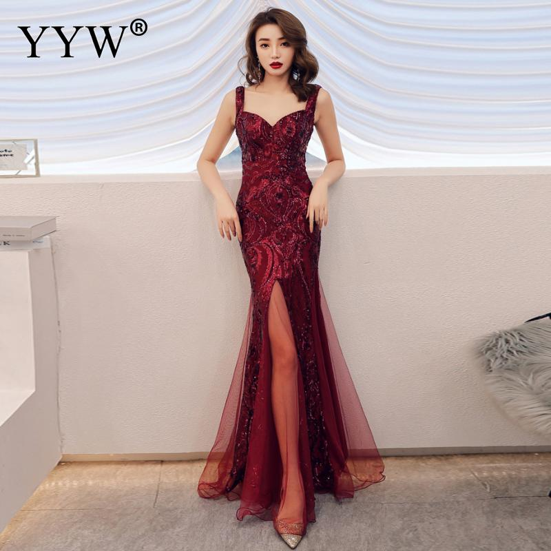 Shinny Gold Sequined V Neck Sleeveless Elegant Evening Dresses Sexy Robe De Soiree Formal Dress Luxury Mesh Club Party Vestidos 6
