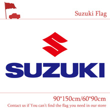 Free shipping Suzuki Car Flag Cycles Motor Polyester 90*150CM 60*90CM Banner