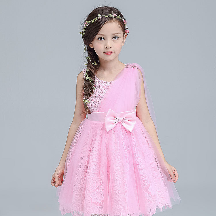 ФОТО Children's Garment Girl Summer Wear 2016 New Pattern Children Dress In Will Child Princess Girl Yarn . TS19. 32