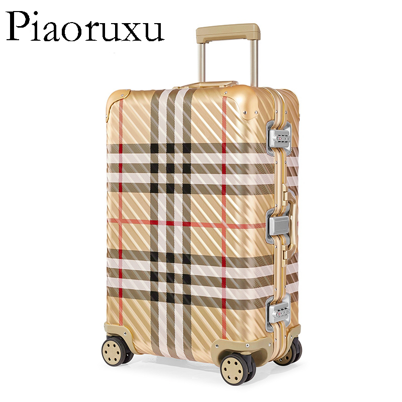 100 aluminum alloy travel suitcase TAS LOCK spinner 20 business trolley case on wheel