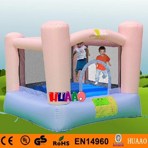 Livraison gratuite famille utiliser rose gonflable Mini videur aire de jeux intérieure pour les enfants avec ventilateur CE gratuit