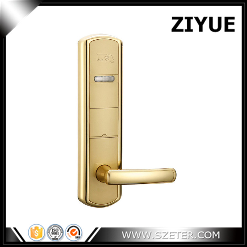 Electronic lock for hotel door Hotel lock rfid electronic hotel lock   ET918RF hotel lock system rfid t5577 hotel lock gold silver zinc alloy forging material sn ca 8037